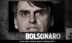 Propaganda do PT que associava Bolsonaro à prática de tortura, foi suspensa por determinação do TSE Foto: Reprodução