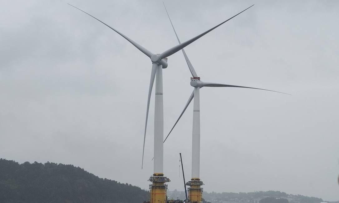 Petrobras fez parceria com a norueguesa Equinor para unir produção de petróleo com energia eólica Foto: Carina Johansen / Bloomberg