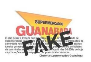 Comunicado sobre o fim do Aniversário Guanabara é #FAKE Foto: Reprodução