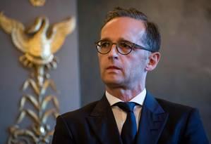 O ministro alemão de Relações Exteriores, Heiko Maas Foto: THOMAS SAMSON / AFP