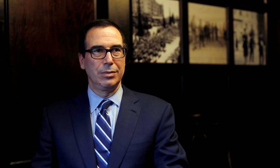 O secretário do Tesouro dos EUA, Steven Mnuchin Foto: RONEN ZVULUN / REUTERS
