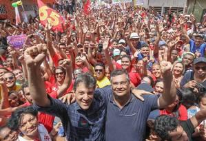 Fernando Haddad participa de ato em São Luís com o governador eleito do Maranhão, Flávio Dino (PCdoB) Foto: Ricardo Stuckert / Divulgação/PT