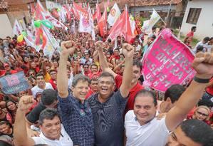 O candidato do PT à Presidência, Fernando Haddad, faz campanha em São Luís Foto: Divulgação