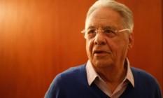 Ex-presidente Fernando Henrique Cardoso Foto: Marcos Alves / Agência O Globo (17/08/2018)