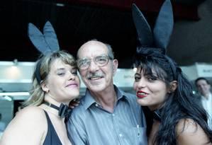 Alcides Caminha, em 1991, logo após a revista