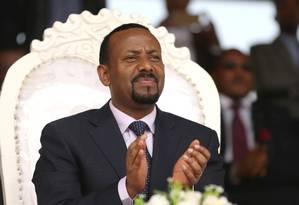 Primeiro-ministro etíope, Abiy Ahmed: negociações de paz fazem parte de nogo governo Foto: Tiksa Negeri / REUTERS