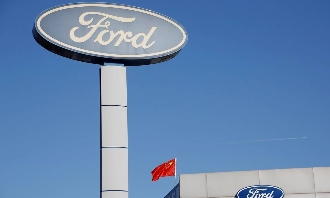 Loja da Ford na China, país que trava guerra comercial com os EUA após a adoção de tarifas ao aço e alumínio Foto: Thomas Peter / REUTERS