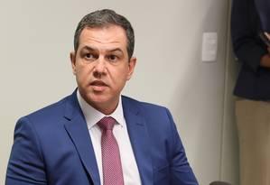 O secretário-geral do TSE, Estêvão Waterloo, durante entrevista Foto: Divulgação/TSE/10-10-2018