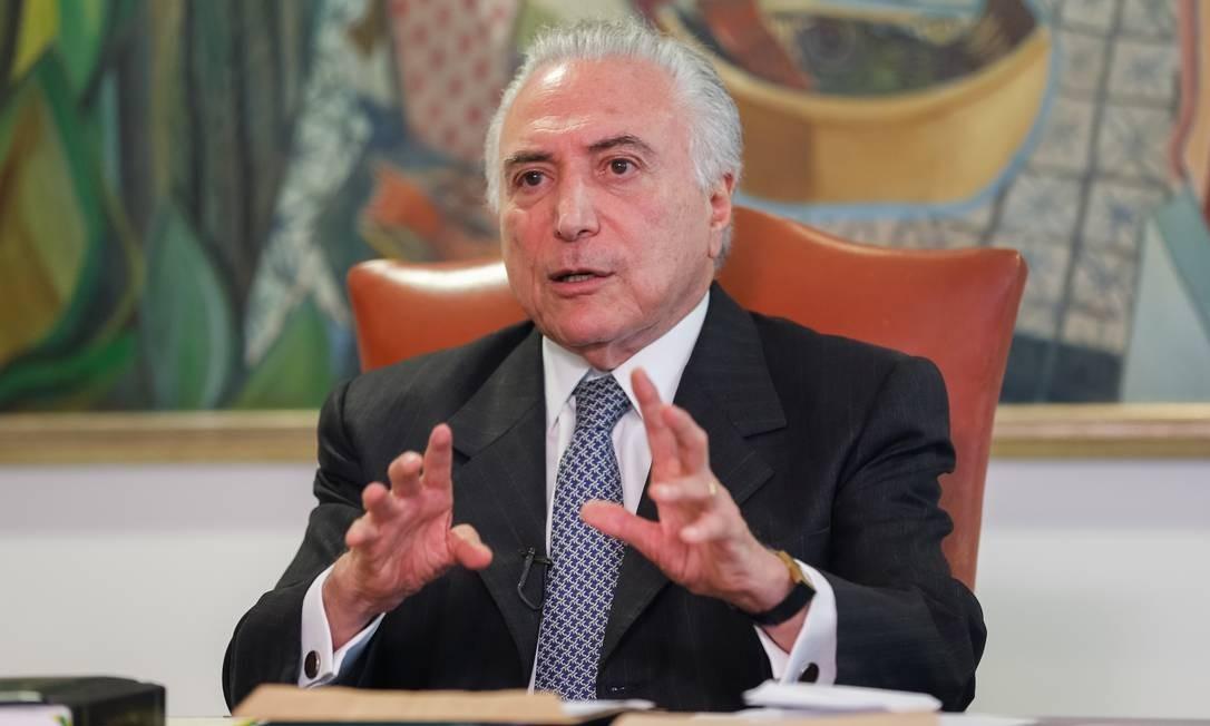 O presidente Michel Temer se reúne com ministros Foto: Cesar Itiberê/Presidência