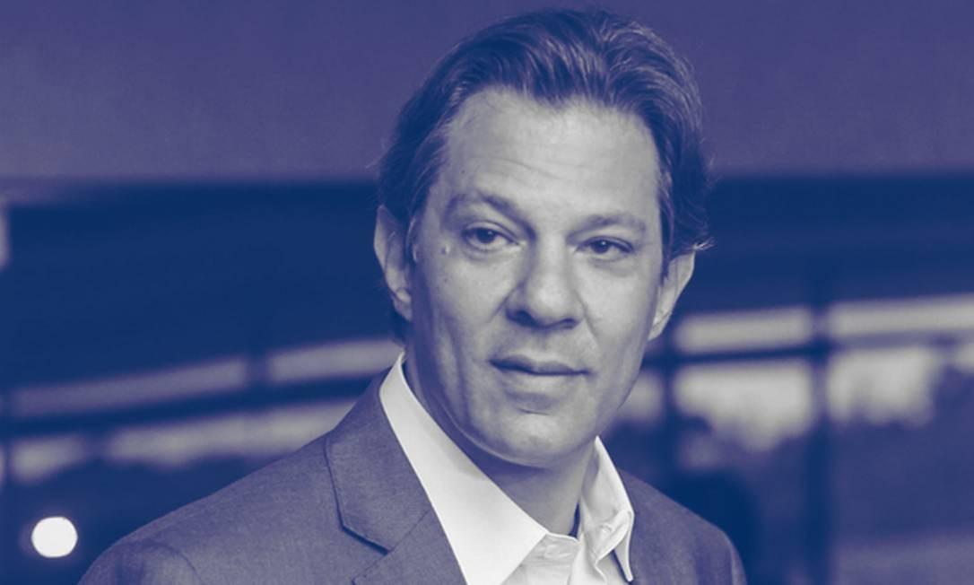 O presidenciável Fernando Haddad (PT) Foto: Editoria de Arte