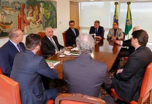Temer discute transição de governo rem reunião com ministros Foto: Cesar Itiberê/ Divulgação