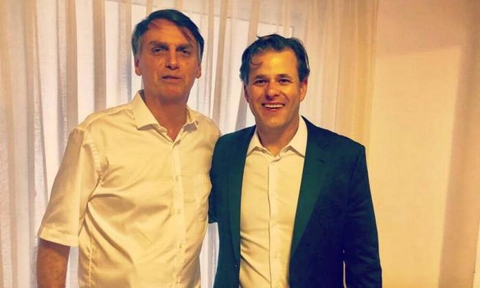 O presidenciável Jair Bolsonaro (PSL) e o deputado Leonardo Quintão (MDB-MG) Foto: Reprodução/Instagram/Facebook