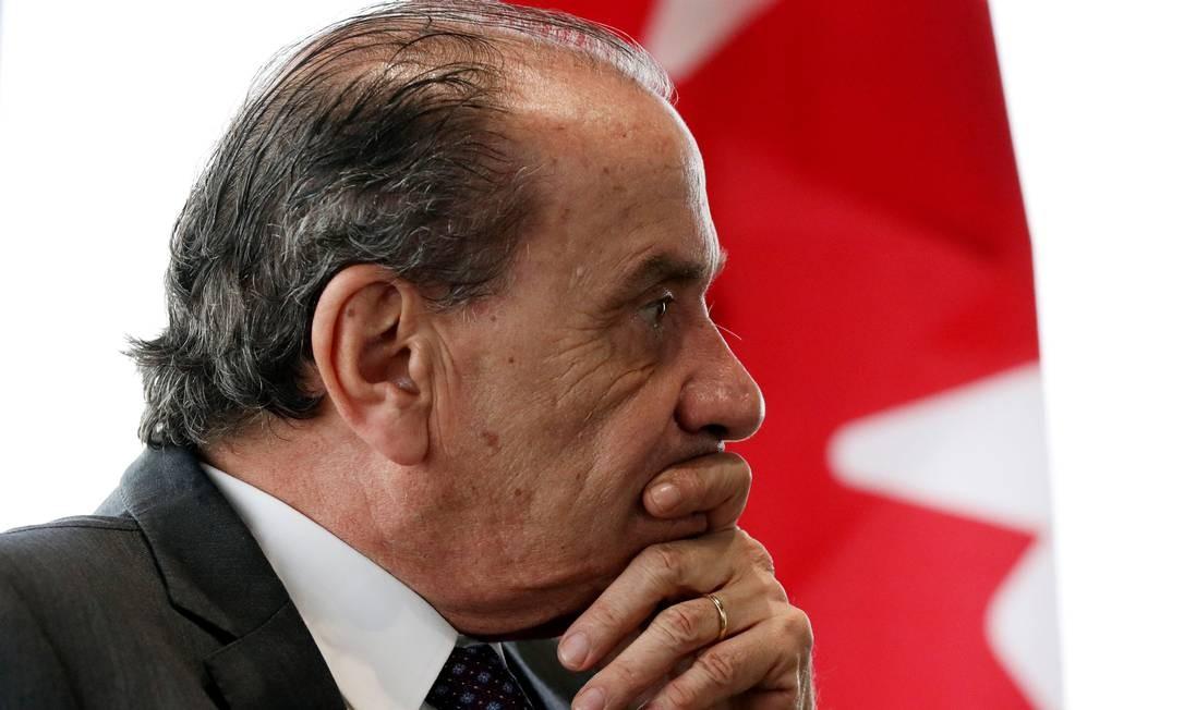 O ministro das Relações Exteriores, Aloysio Nunes Foto: Chris Wattie/Reuters/23-10-2018