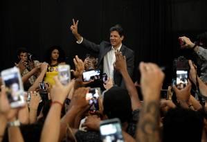 Candidato do PT à Presidência, Fernando Haddad Foto: RICARDO MORAES / REUTERS