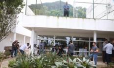Casa do empresário Paulo Marinho, no Jardim Botânico, onde Bolsonaro grava os programas de TV Foto: Fabiano Rocha / Agência O GLOBO