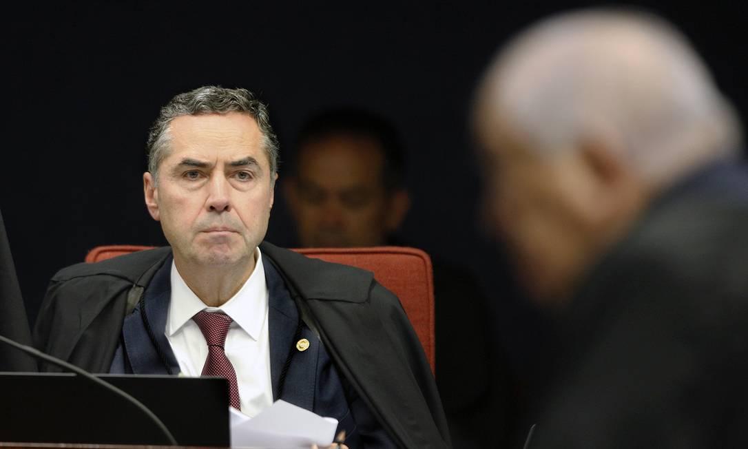 O ministro Luís Roberto Barroso, durante sessão da Segunda Turma do STF Foto: Rosinei Coutinho/STF/16-10-2018