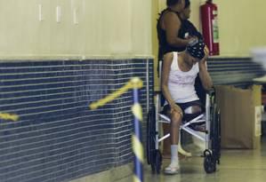 Greve no Hospital Albert Schweitzer, em Realengo, restringe o atendimento somente a pacientes em estado grave Foto: Gabriel de Paiva / Agência O Globo