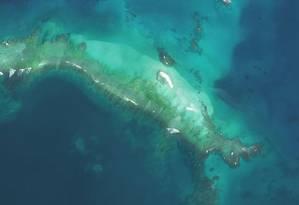 Pequena ilha do Havaí desapareceu após passagem de furacão Foto: Divulgação/Administração Oceânica e Atmosférica Nacional dos EUA