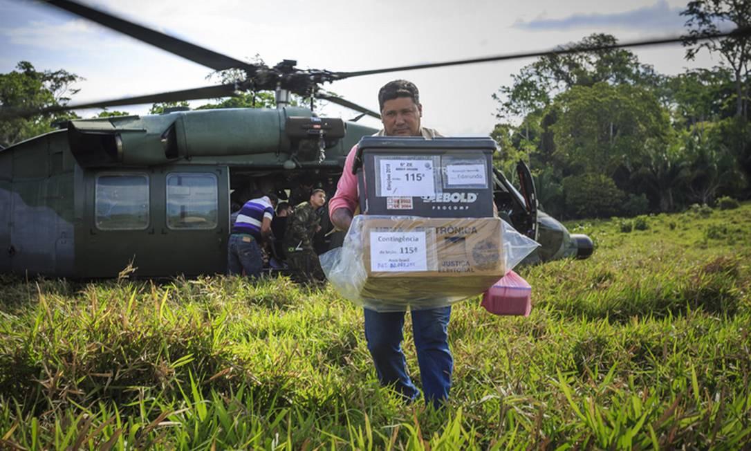 Forças Armadas ajudam no apoio logístico das eleições Foto: Divulgação/Ministério da Defesa