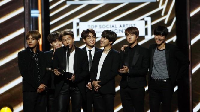 A boy band BTS é uma das maiores bandas de K-pop da atualidade Foto: Mario Anzuoni / Reuters