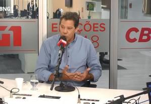 O candidato do PT à Presidência,Fernando Haddad Foto: Reprodução