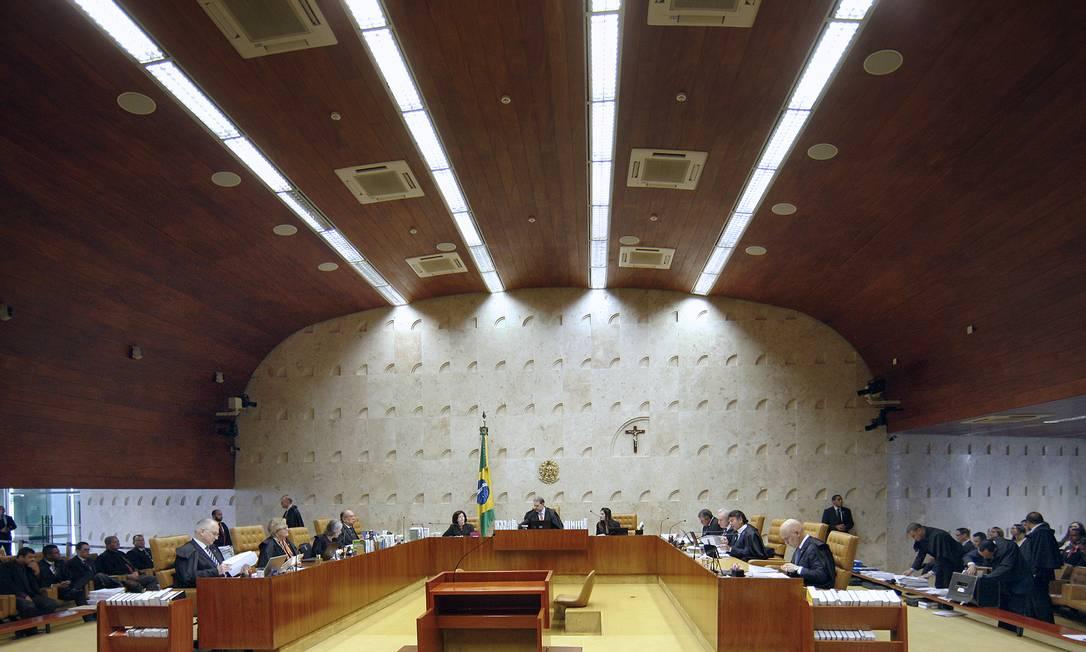 Plenário do STF, durante sessão Foto: Rosinei Coutinho/STF