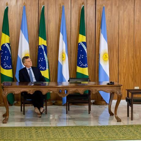 O presidente da Argentina, Mauricio Macri Foto: Jorge William / Agência O Globo