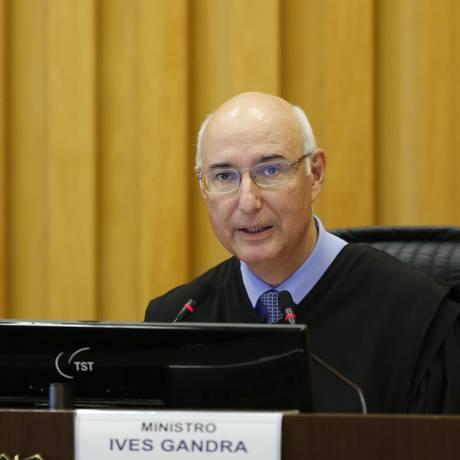 O ministro Ives Gandra Martins Filho, durante sessão do TST Foto: Igor Estrela/TST/7-12-2017