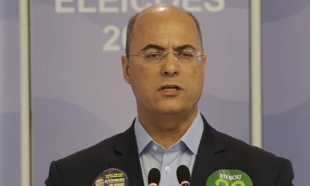 O candidato do PSC ao governo do Rio, Wilson Witzel. 23 / 10 / 2018 Foto: Marcelo Theobald / Agência O Globo
