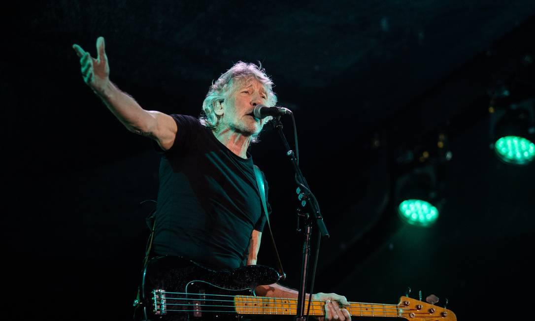 Roger Waters se apresentou no Maracanã na noite desta quarta-feira Foto: Bárbara Lopes / Agência O Globo