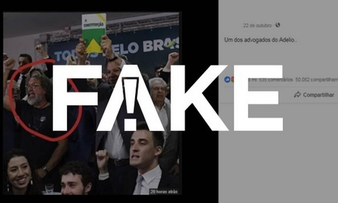 Post falso diz que advogado Kakay defende Adélio Bispo, que esfaqueou Bolsonaro Foto: Foto: G1