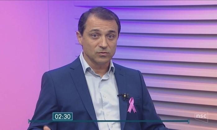O candidato do PSL ao governo de Santa Catarina, Comandante Moisés Foto: Reprodução