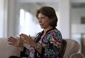 Ex-presidente da Costa Rica, Laura Chinchilla Miranda é cientista politica e atua como observadora das eleições Foto: Edilson Dantas / Agência O Globo (20/08/2018)