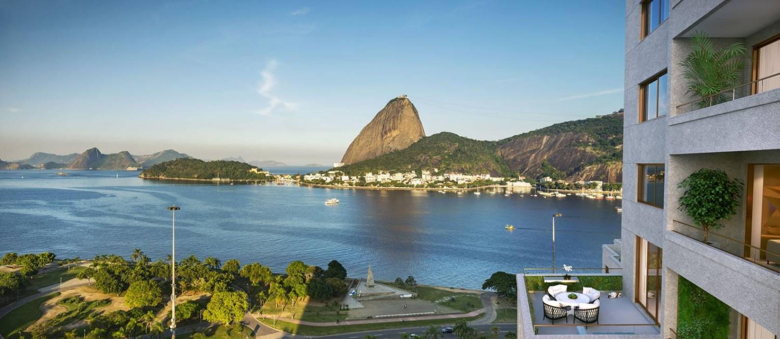 Batizado de Rio by Yoo, o novo emprendimento terá 148 apartamentos, alguns com a vista privilegiada para um dos cenários mais bonitos da cidade Foto: Divulgação