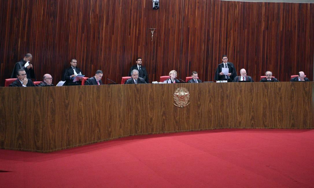Plenário do STF, durante sessão Foto: Carlos Moura/TSE/23-10-2018