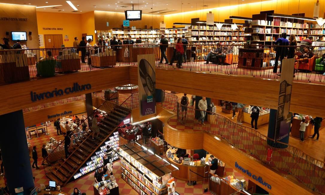 Livraria Cultura no Conjunto Nacional, em São Paulo Foto: Marcos Alves / Agência O Globo