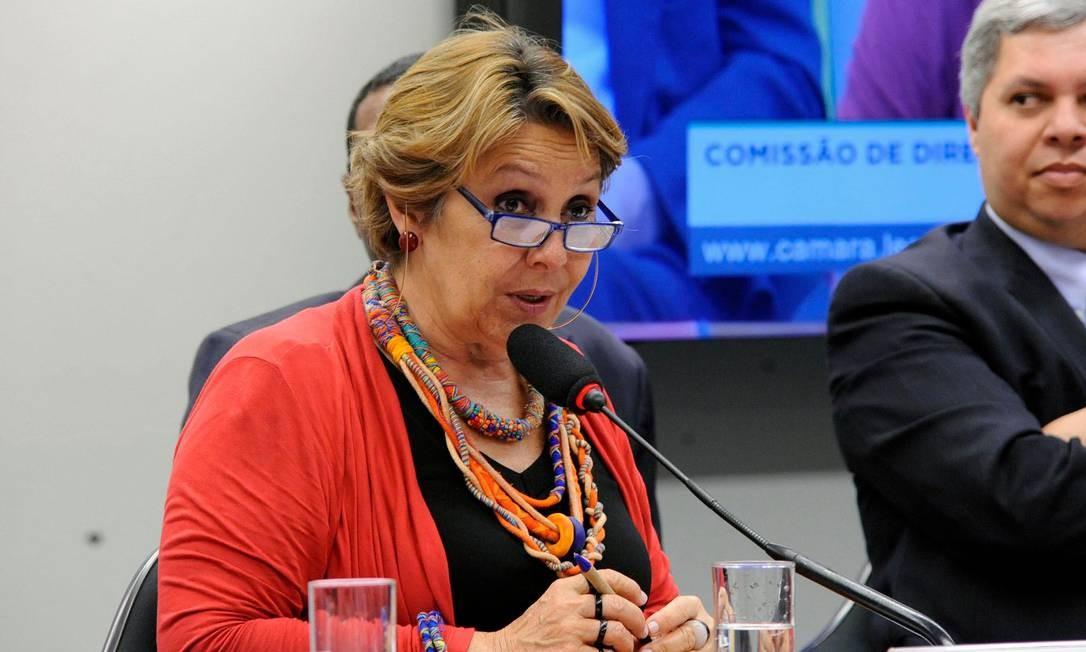 A deputada federal Érika Kokay (PT-DF), durante audiência pública na Câmara Foto: Maryanna Oliveira/Câmara dos Deputados/29-08-2018