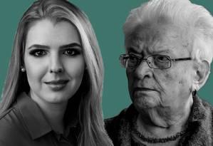 Luisa Canzini e Luiza Erundina, as deputadas mais jovem e mais velha Foto: Agencia O Globo