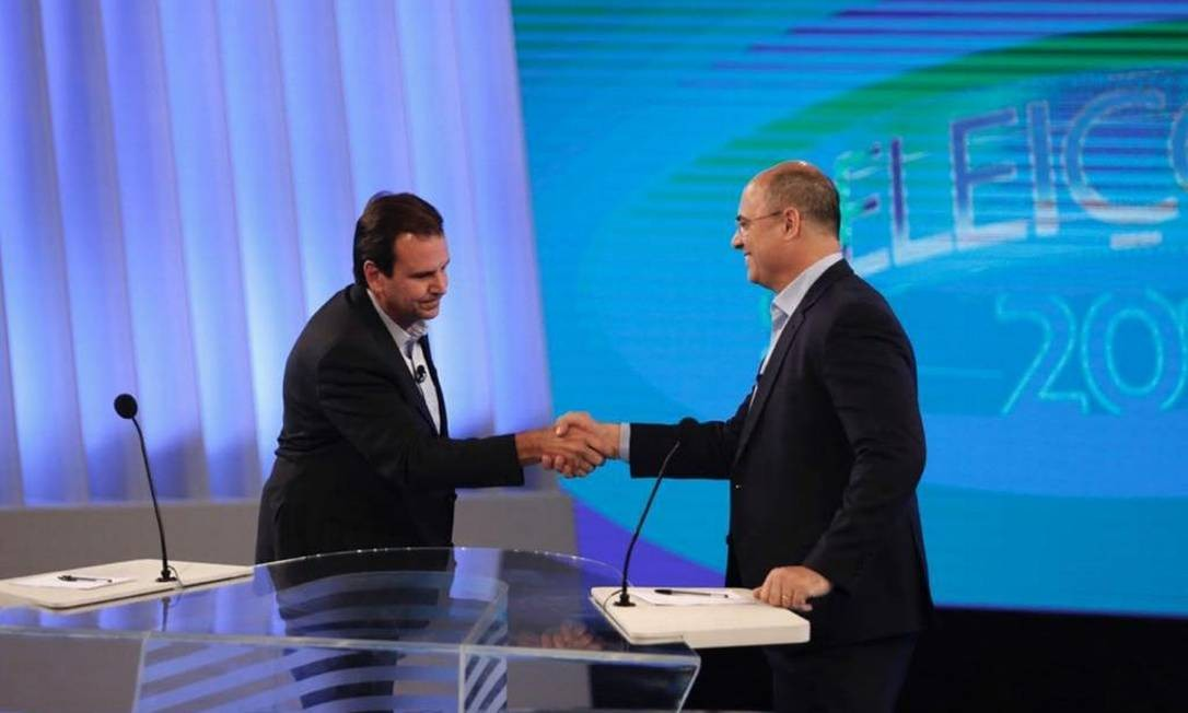 Debate no RJ reúne Paes e Witzel Foto: G1