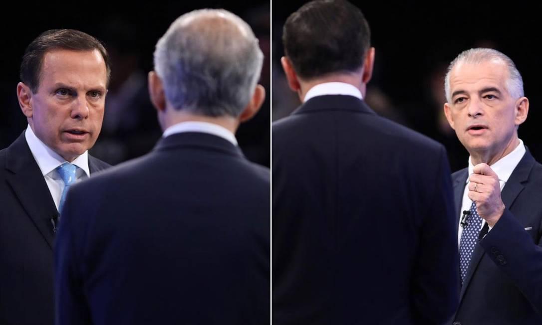 João Doria e Márcio França trocam argumentos sobre suas propostas para São Paulo Foto: Celso Tavares/G1