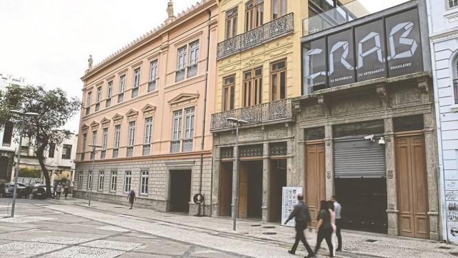 Com três edificações, o CRAB virou atração turística do Centro do Rio de Janeiro Foto: Reginaldo Pimenta