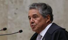 O ministro Marco Aurélio Mello, durante sessão do STF Foto: Ailton de Freitas/Agência O Globo/04-10-2018
