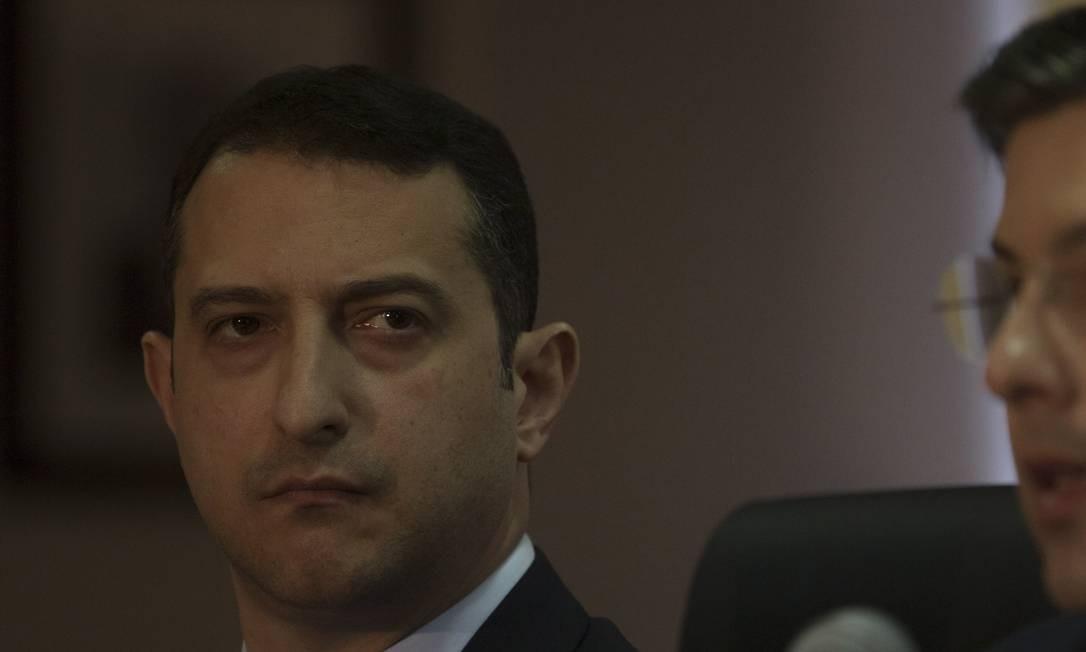 O diretor-geral da Polícia Federal, Rogerio Galloro Foto: Daniel Marenco/Agência O Globo/03-07-2018