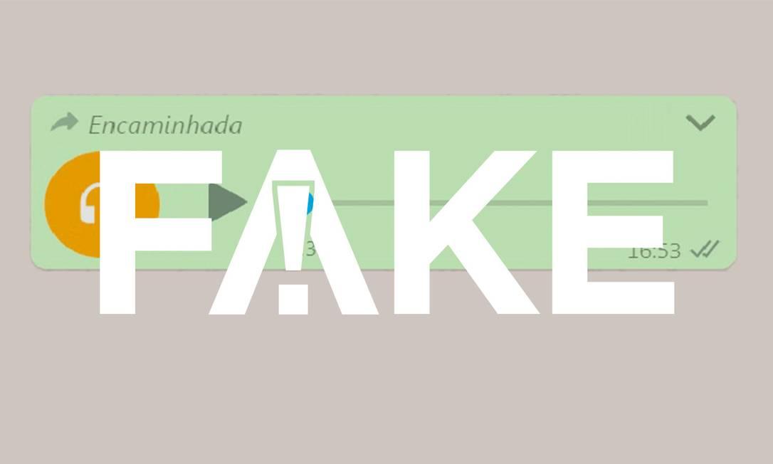 O áudio falso que circula nas redes sociais Foto: Reprodução