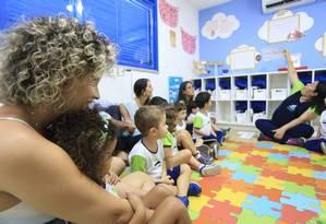 Experiência. Atividade propõe que responsáveis acompanhem um dia letivo dos filhos para entender a educação Foto: Agência O Globo