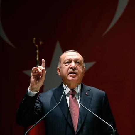 O presidente turco Tayyip Erdogan Foto: Divulgação / AFP / Assessoria de Imprensa do governo turco