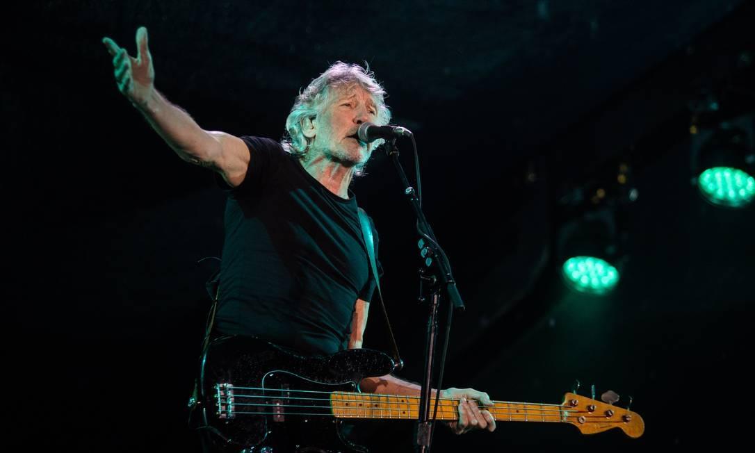 O músico Roger Waters, durante apresentação no Rio de Janeiro Foto: Bárbara Lopes/Agência O Globo/24-10-2018