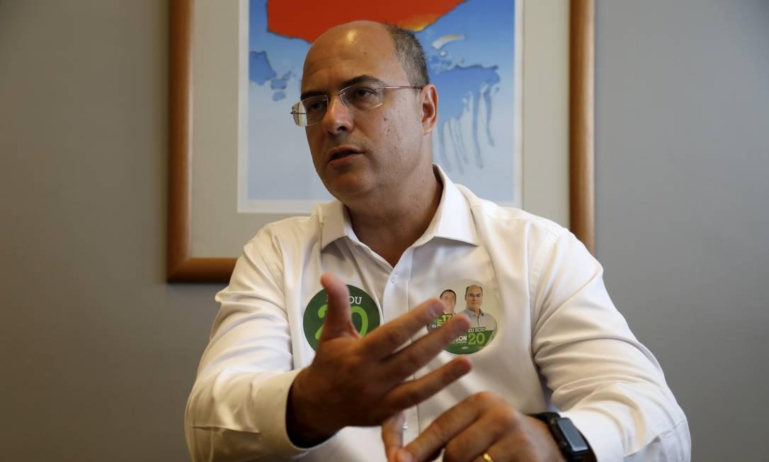 O candidato a governador do Rio Wilson Witzel (PSC) 26/10/2018 Foto: Custódio Coimbra / Agência O Globo