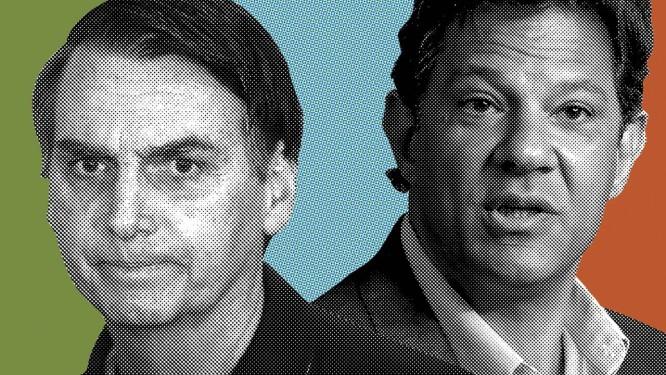 Jair Bolsonaro x Fernando Haddad: o confronto final Foto: Época