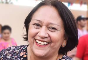 Candidata ao governo do estado do Rio Grande do Norte, Fátima Bezerra (PT) Foto: Reprodução/Facebook